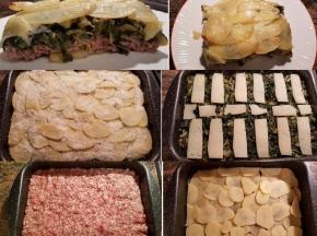 Tortino di catalogna, salsiccia, patate e pecorino