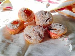 Muffin al cioccolato e albicocca