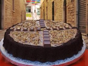 Torta fondente con crema kinder
