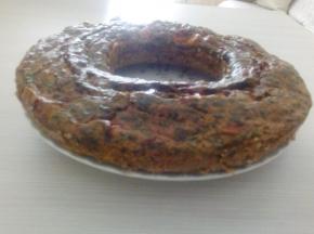 Ciambella con spinaci, prosciutto crudo, pomodori secchi e formaggio