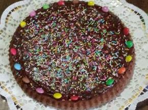 Torta cioccolato colorato