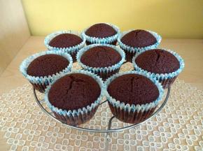 Muffin al cacao senza uova e burro