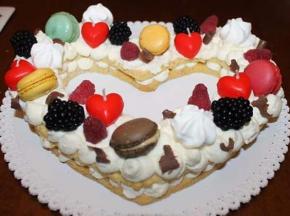 Cuore cream tart