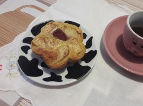 Muffin con frutta frullata
