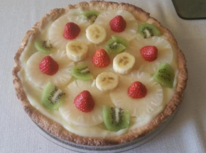 Crostata di ananas e kiwi