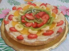 Crostata di frutta e crema pasticcera