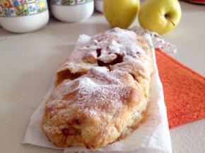 Strudel di mele, ricotta e noci