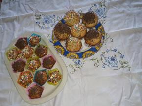 Muffin  spennellati con sciroppo d acero