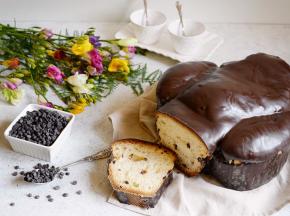 Colomba casalinga al cioccolato