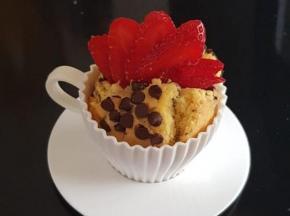 Muffin cioccolato e fragole