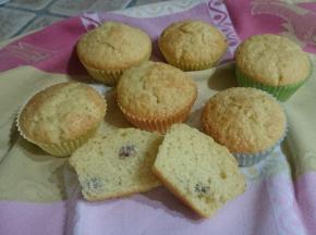 Muffin uvetta e rum