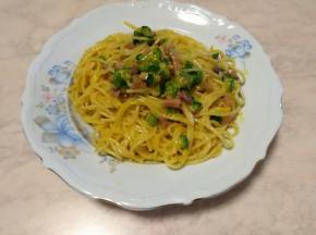 Carbonara speck e zucchina