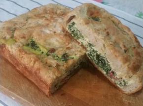 Torta salata con ricotta spinaci e formaggio