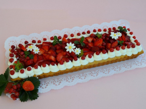 Cream tart ''fragolata''
