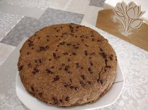 Torta di grano saraceno e gocce di cioccolato