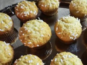 muffin con zucchero in granella