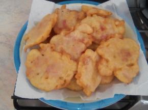 Frittelle con prosciutto cotto