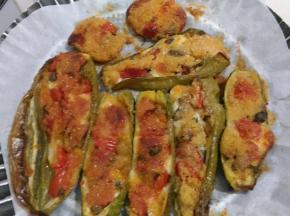 Friggitelli e zucchine con cous cous