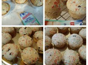 Muffin con gocce di cioccolato e nocciole senza uova