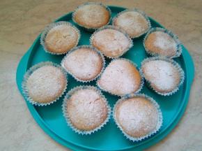 Muffin alla vaniglia e pesca