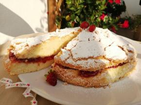 Torta Nuvola vaniglia e fragole