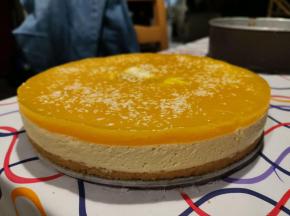 Cheesecake al Mango e Cioccolato Bianco