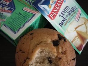 Muffin con codette di cioccolato fondente