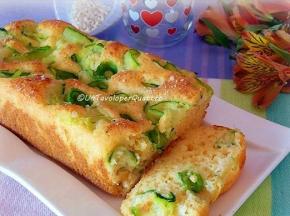 Plumcake salato gluten free con zucchine