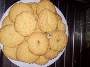 biscotti di mais, vaniglia e limone