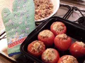 Pomodori al forno con la fregola