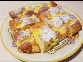 Quadrotti con crema al limone