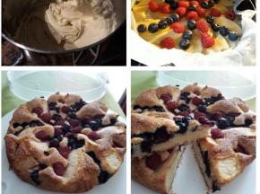 Torta mele e frutti di bosco