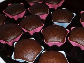 Muffin al cioccolato leggeri