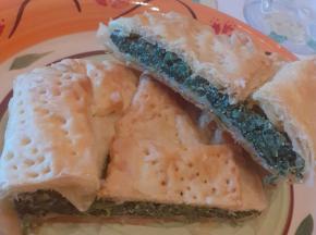 tortino ricotta e spinaci aromatizzato alla mandorla