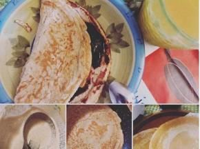 Pancake di farina di avena con marmellata di mirtilli senza zucchero