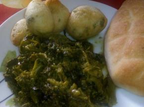 Broccoletti,frittelline e pane casereccio