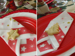 Crackers segnaposto al formaggio