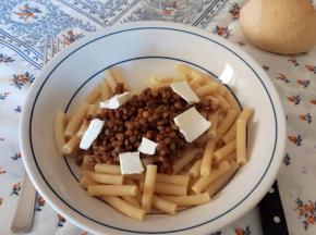 Sedanini al sugo di lenticchie