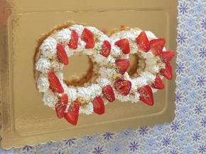 cream tart con fragole
