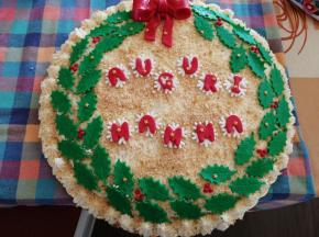 Torta natalizia per compleanno