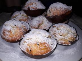 Muffin banana con pirottino al cioccolato