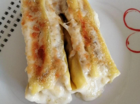 Cannelloni con melanzane grigliate e ricotta