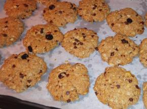 Cookies integrali vegani avena e frutta secca