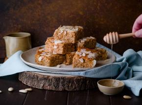 Torta integrale di ricotta, mandorle e miele