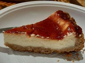 Cheesecake cotta ai mirtilli rossi