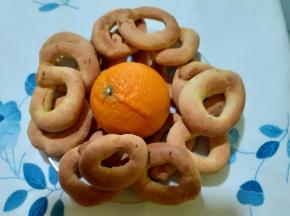 ciambelline all'arancia senza zucchero