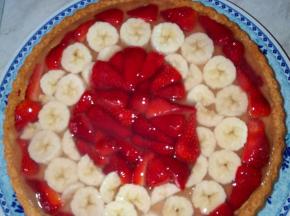 crostata di fragola e banana
