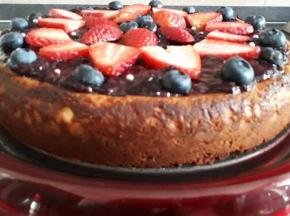 cheesecake mirtilli e fragole