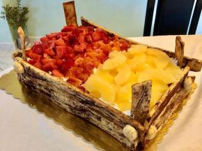 Torta cassetta di frutta per papà