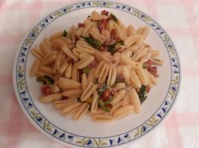 gnocchetti sardi zucchine e pancetta